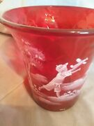 Fenton Mary Gregory Ruby Red Vase Fun-n-flight 48 Nice Mmotherand039s Day Gift