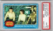 1977 Topps Star Wars 52 Who Will Win The Final Star War Psa 10 Blue Series 1 Ea