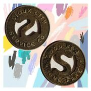 Sioux City Service Co Iowa Good For One Fare Transit Token Ia850oda Lot T12229