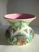Rare Antique Shell And Seaweed Etruscan Majolica Spittoon Phoenixville Pa