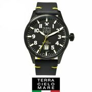 Tcm Terra Cielo Mare Aviatore Markii Black Menand039s Watch Stainless Steel White