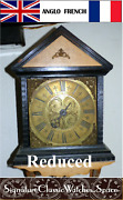 Antique Thos. Read English 1750and039s Birdcage Wall Clock Reduced