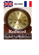 Antique English 1850's Wall Clock Reduced