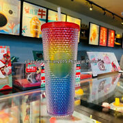 Starbucks China Valentineand039s 2021 Rainbow Diamond Studded Tumbler Cup [in Stock]