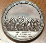 French Lyon Revolution Of 1848 Garapon And Castel Medal Extremely Rare 100 Made