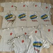 Vintage 80s Rolling Stones New Orleans Concert T Shirt Riverboat Screen Stars