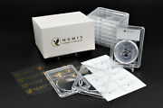 Numis 10 Pack 14mm Premium Acrylic Clear Coin Case Slab Holder Silver Three Cent