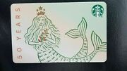 New Starbucks 50th Anniversary Siren Gift Card Limited Edition