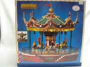 Lemax Jungle Carousel 2016 Musical Merry Go Round Works In Box