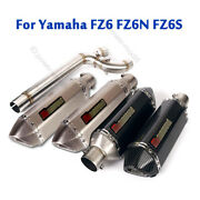 For Yamaha Fz6 Fz6n Fz6s Motorcycle Connecting Link Pipe Exhaust Silencer Baffle