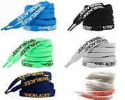 Printed Signed Shoelaces Silicone Printing For Sneakers Boost Fit For Ow Shoes