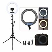 Led Ring Light 18 Inch Lamp 55w Photography With Tripod Stand Phone Make Up Set