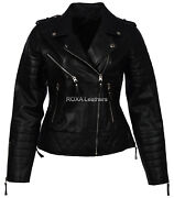 Best Selling Womenand039s Genuine Lambskin Leather Jacket Collared Quilted Silver Zip
