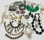 Vintage And New Rhinestone Costume Jewelry Lot Of 32