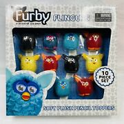 Furby Flingers 10 Piece Set Soft Pencil Toppers 2013 Plush Finger Puppets 3 New