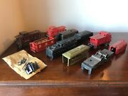 Large Lot Of 10 Vintage Lionel Trains And Parts For Repair Projects - Some Prewar