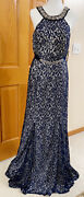 Formal Dress Size 13 Lace Prom Bridesmaid Beaded Neckline My Michelle Gown P12