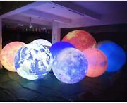 Inflatable Planets Solar System 8 Planets+sun/lighting Balloon With Various Size