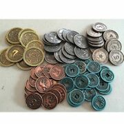 Scythe Metal Coins - Accessories For Board Game Stonemaier- New