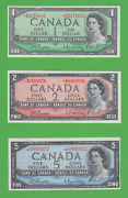 Lot Of 3 1954 Replacement Canadian 1 Bm 2 Bb And 5 Rc All Beattie Rasminsky