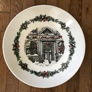 Royal Stafford Christmas Holiday Home Serving Pasta Bowl Farmhouse Round 13.5andrdquo