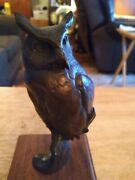 Vtg Bronze Great Horned Owl Sculpture Statue By Artist Chester Comstock Signed