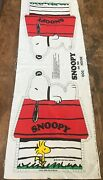 Vintage Snoopy On Dog House Fabric Panel Easy Cut And Sew