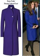 Reiss Emile Coat Kate Middleton Blue Wool Fitted Coat Sold Out And Rare Xs