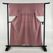 Iromuji Excellent Goods Jimon Pink Length154 Sleeve Length63 S Pure Silk