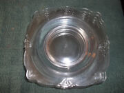 Heisey Empress Square Bread And Butter Plates - 5 - Signed