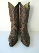 Corral Boots Menand039s Size 12d Western Cowboy Boots Brown And Black
