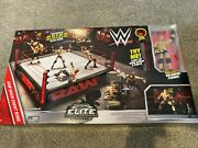 Wwe Elite Collection Raw Main Event Ring Playset - Dxg60 With Goldberg Rare