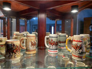 Complete Budweiser Beer Stein Collection