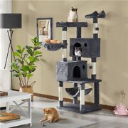 64.5in Extra Large Multi-level Cat Tree Kittens Play House Condo With Platform