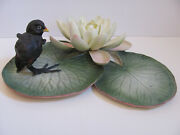 Royal Worcester Moorhen Chick And Water Lily Dorothy Doughty Porcelain Figurine