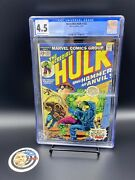 Cgc 4.5 Hulk 182 Wolverine Complete Marvel Value Stamp Intact- Brand New Case