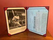 Babe Ruth The Hartford Life Insurance Policy Application W/ 8x10 Photo-replica