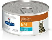 Hilland039s Prescription Diet K/d Kidney Care Pate With Tuna Canned Cat Food 12/5.5oz