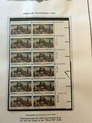 Stamps, Great Collection Of 142 Us Mnh Plate Blocks 1970-76 In Minkus Album