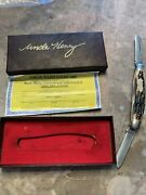 Uncle Henry By Schrade+, 897uh Stockman Knife, Staglon Handles, Box, 1973-2004