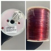 """Wire Copper Magnet, Bright, Red 22 Awg, 0.025"""" Diameter 7515' Lenght New"""