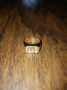 Mcdonalds Employee 14k Gold Ring With 1 Diamond Collectible Size 11 21.68mm Id