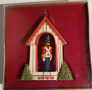 Hallmark Tree Trimmer Ornament Twirl About Motion Christmas Soldier 1976 Box