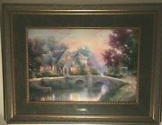 Lamplight Manor Thomas Kinkade Signed And 757/970 Artist Proof A/p Lovely