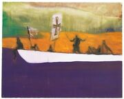 Peter Doig Canoe 2008 Signed And Numbered Print- Banksy Damien Hirst Interest