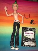 Monster High Male Boy Doll----1st Wave Deuce Gorgon And Pet Perseus