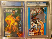 Ultimate Ff 1 And Marvel Team-up 9 Cgc 9.8 1st Ultimate Ff Reed Richards/the Maker