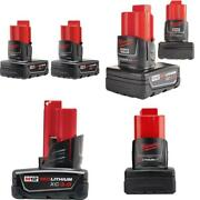 M12 12-volt Lithium-ion Xc Extended Capacity 3.0 Ah Battery Pack 2-pack