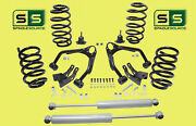 3/3 Drop Kit V8 Fr And Rr Coils Up Arms Exten Rr Shocks Fits 07-14 Gm And Gmc Suv