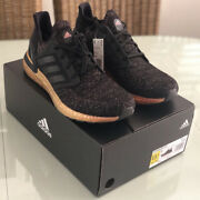 New W/ Tags And Box 100 Auth Adidas Ultra Boost 20 Black/ Neon Pink Sneakers 11.5